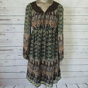 Bohemian Long sleeve Maternity dress